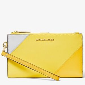 Michael Kors Adele Tri-Color Smartphone Wallet